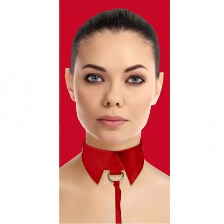 Collar clásico con correa - Rojo