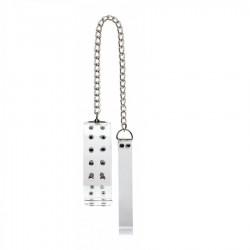 Collar esclavo con tachuelas - Transparente