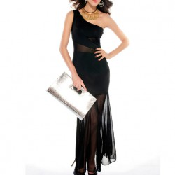 7750 - Vestido negro largo