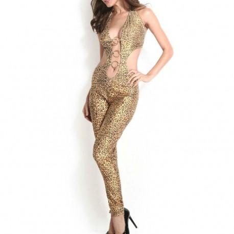 7786 - Body leopardo + diadema