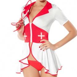 7736 - Disfraz vestido cremallera enfermera