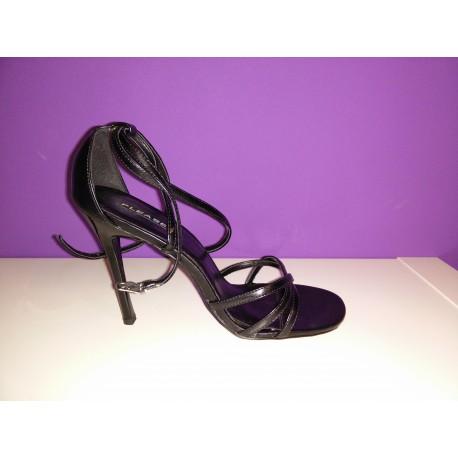Zapato de tiras negras (38.5)