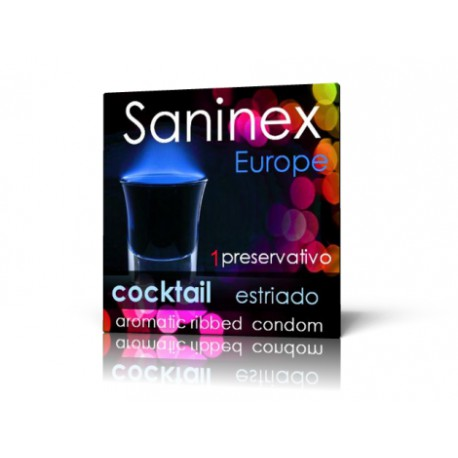 Preservativo Saninex - Cocktail ESTRIADO (1)