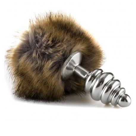 Plug extrafeel metal cola de conejito - plata/pardo