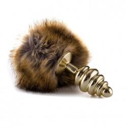 Plug anal extrafeel cola conejo - dorado/pardo
