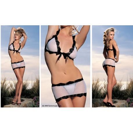 90134 - Conjunto Angel (top+tanga+minifalda)