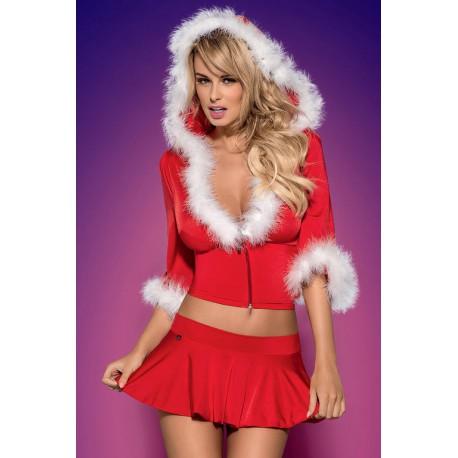 7635 - Santa Lady rojo (falda+top+tanga)