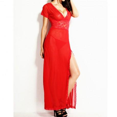 7680 - Vestido largo rojo