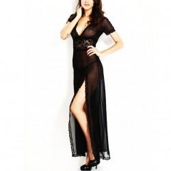 7678 - Vestido largo negro