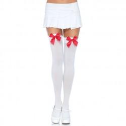 4795 - Medias blancas con lazo rojo (enfermera)