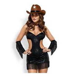 Disfraz 5pz Sheriffia Sexy - L/XL