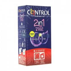 Condón Control 2 en 1 Touch&Feel + lubricante (6)