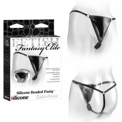 Tanga con perlas silicona estimuladoras - BEADED PANTY negro