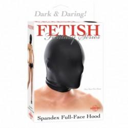 Capucha cerrada Fetish Fantasy Negra