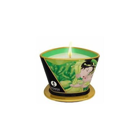 Vela masaje Shunga - ZENITUDE / te verde (170 ml)