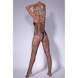 1227 - Body simulación corpiño y medias ligueras