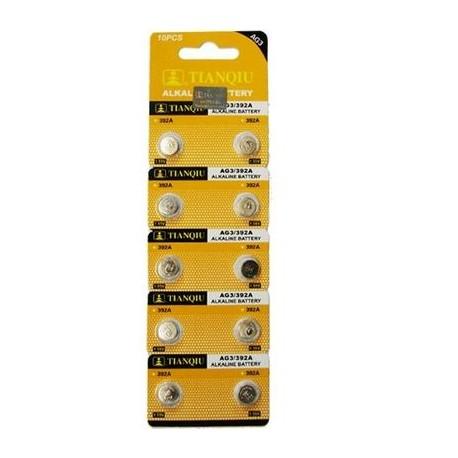 Blister 10 pilas AG3 (LR41) - botón mini