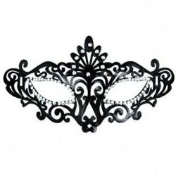 Máscara veneciana - negro y brillantes