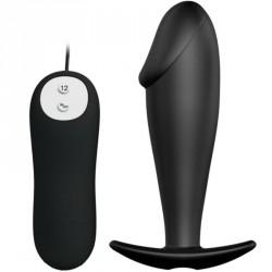 Plug vibrador silicona realista - REAL Stimulation (12 funciones)