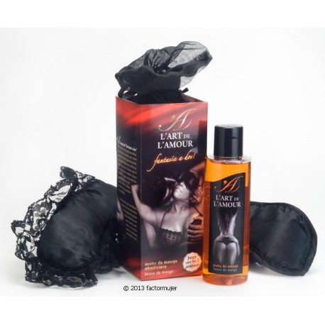 "Set ""Fantasie A Deux"" (aceite + antifaces el/ella)"