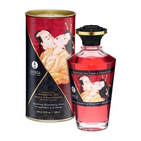 Aceite estimulate Shunga - ROMANCE (fresa/cava)