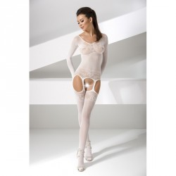 BS055 - Body manga larga liguero BLANCO