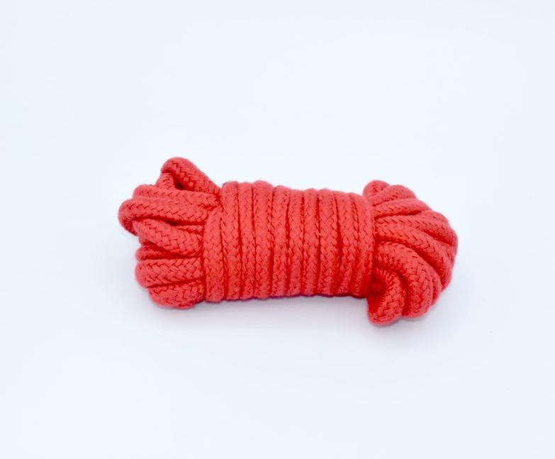 Cuerda de algodón roja 5 metros