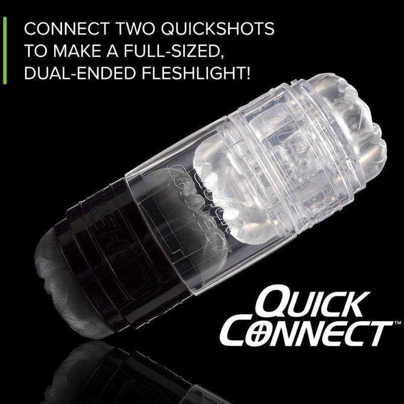 Masturbador FleshLight Quickshot Connector, une dos quickshort