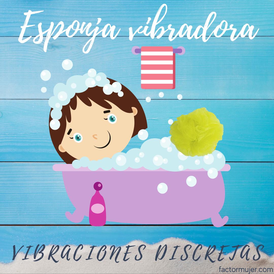 discretas vibraciones con esponjas de baño