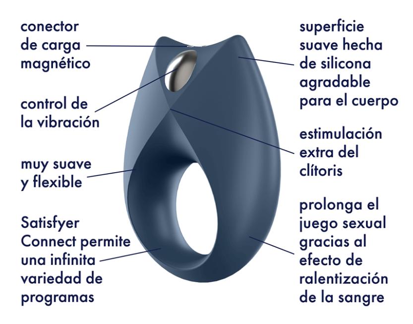 Satisfyer Royal One anillo vibrador con bluetooth APP
