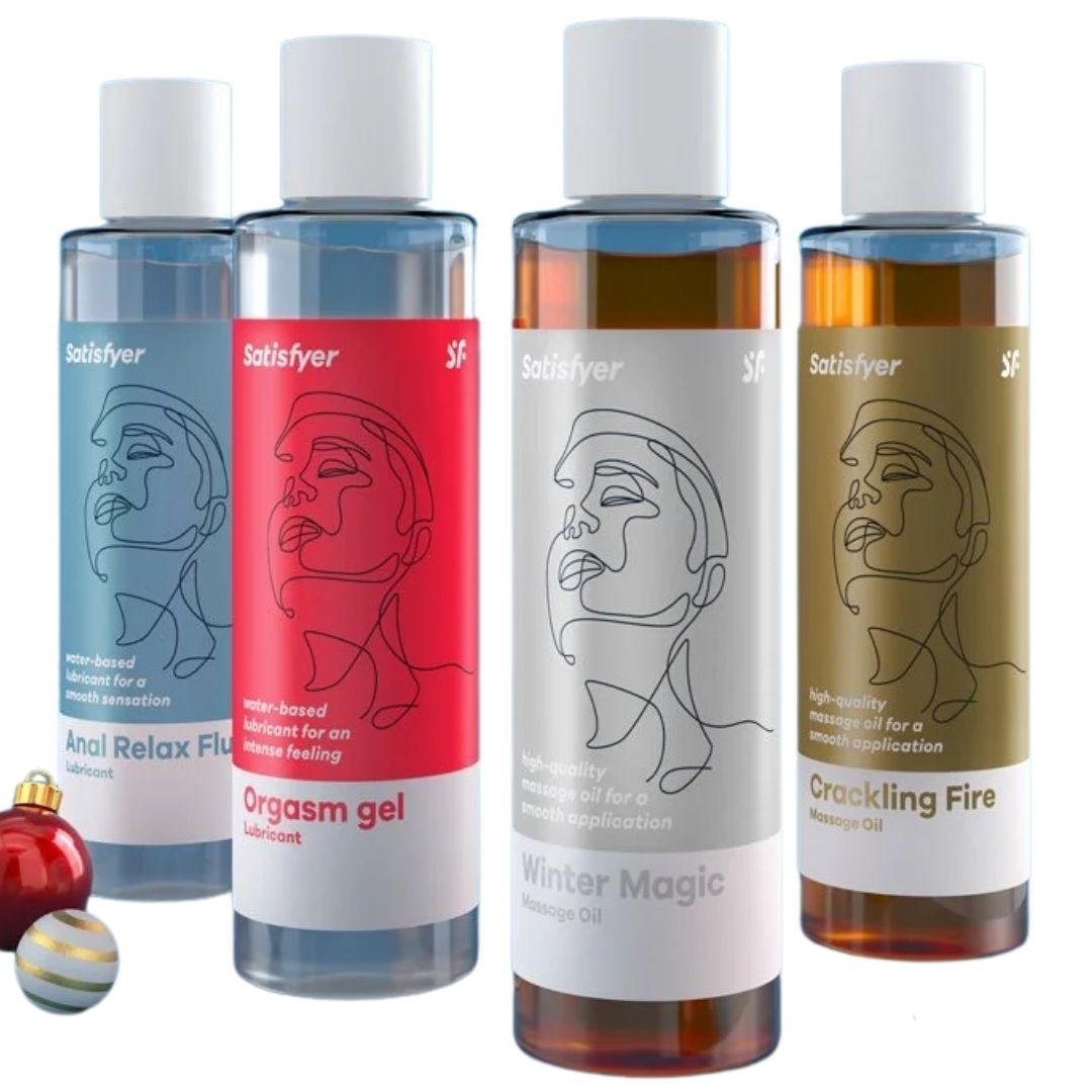 Calendario de Adviento Satisfyer, lubricantes estimulantes y aceites de masaje estimulantes