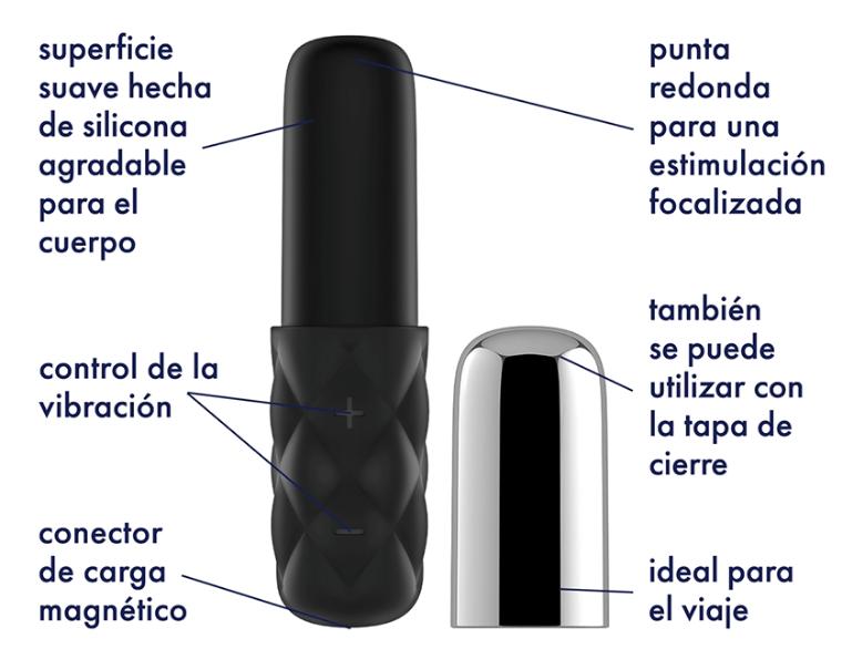 Mini vibrador Satisfyer Sparkling Darling Chrome