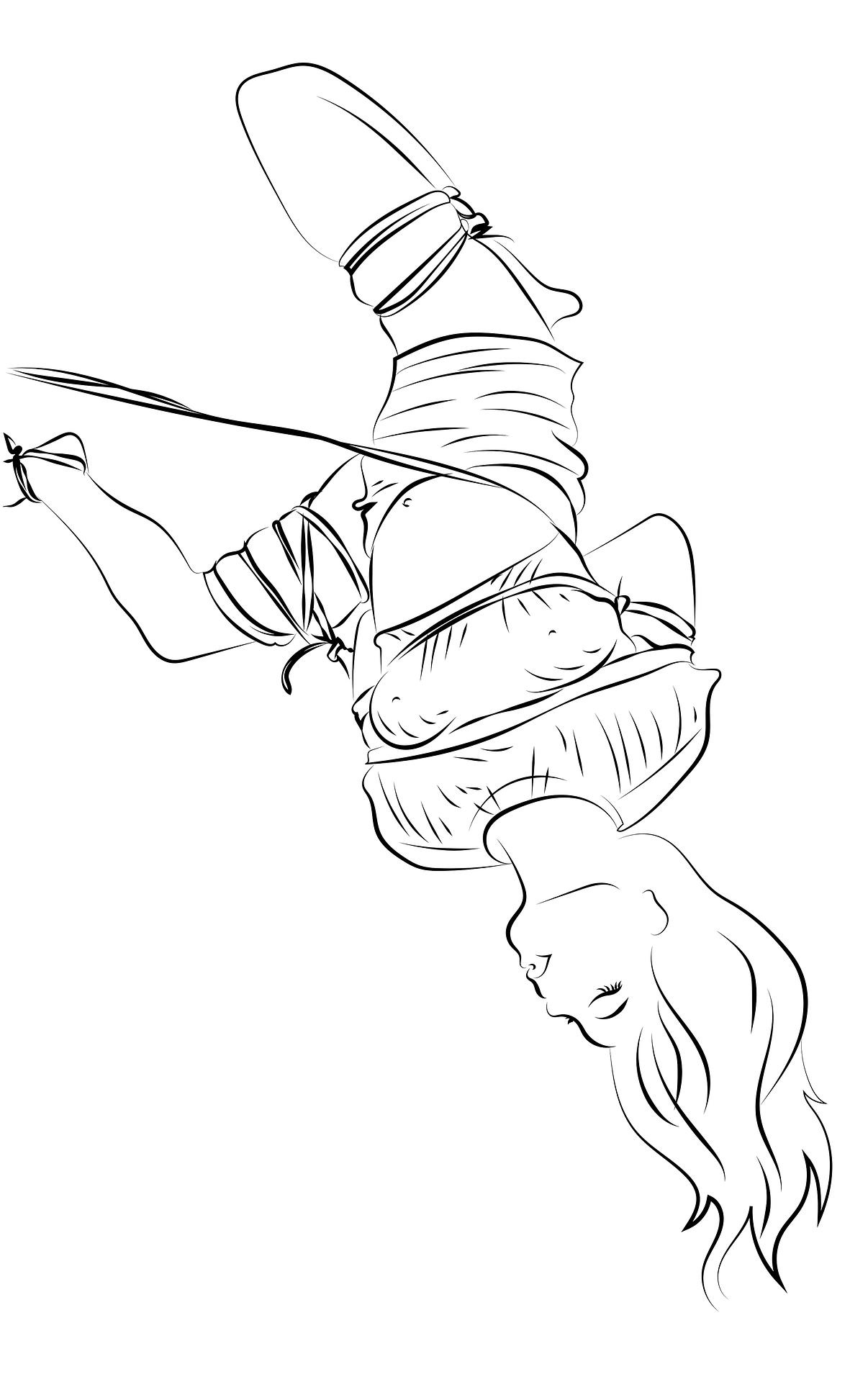 Mujer atada cuerda bondage técnica Shibari